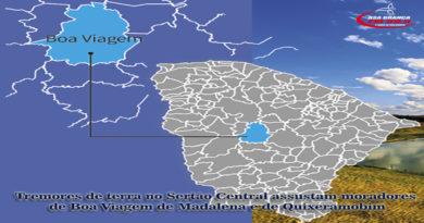 Tremor de terra atinge Boa Viagem Madalena e Quixeramobim